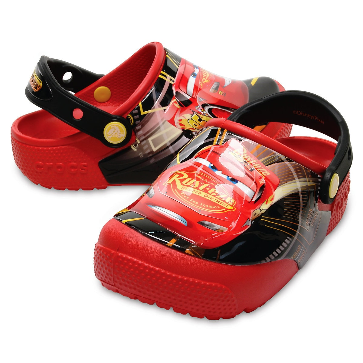 146b99f176 Product Image of Lightning McQueen Crocs™ Light-Up Clogs for Boys   1