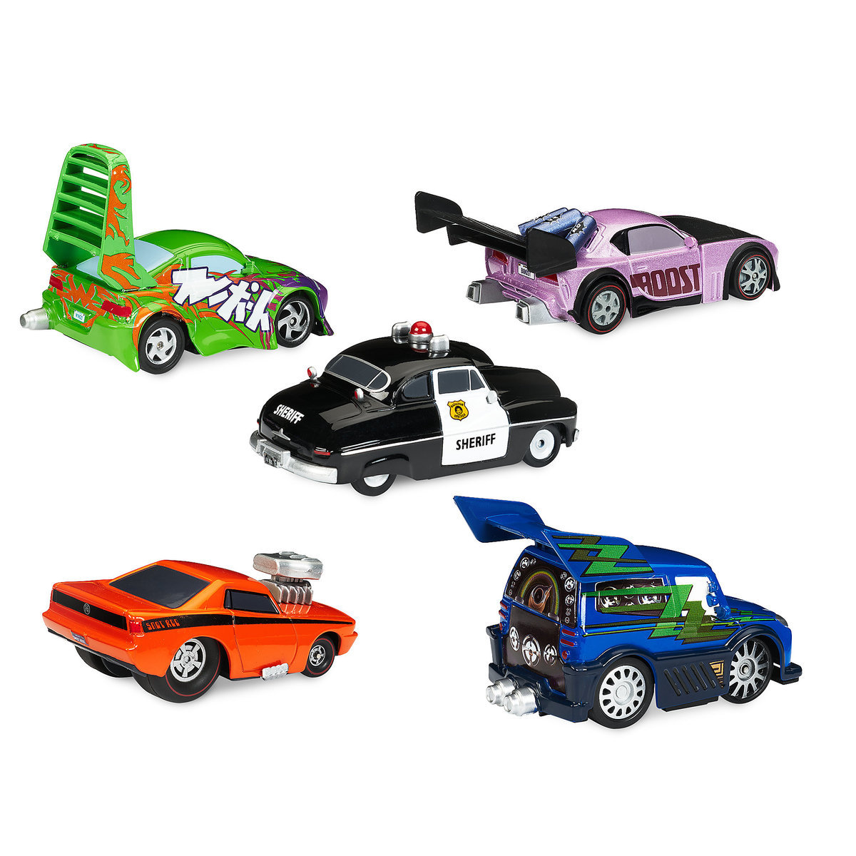 Sheriff & Tuner Cars Pull \'N\' Race Die Cast Set - Cars | shopDisney