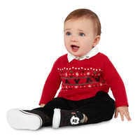 Image of Santa Mickey Mouse Sweater and Pants Set for Baby # 2