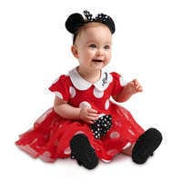 Image of Minnie Mouse Costume Bodysuit for Baby - Red # 2