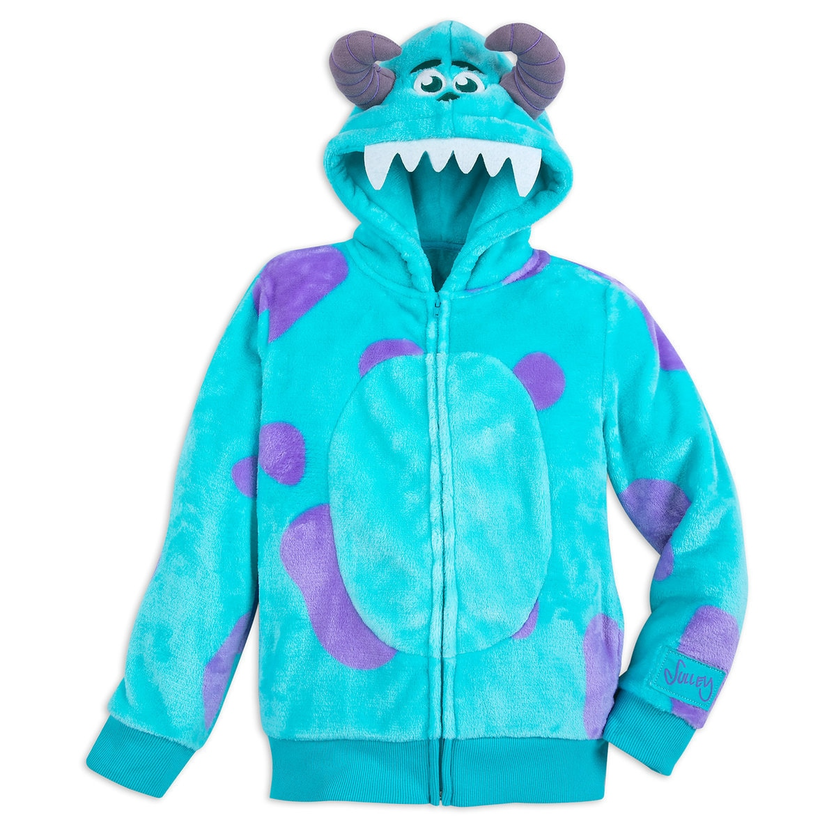 71a90353389a Product Image of Sulley Costume Zip Hoodie for Kids   1