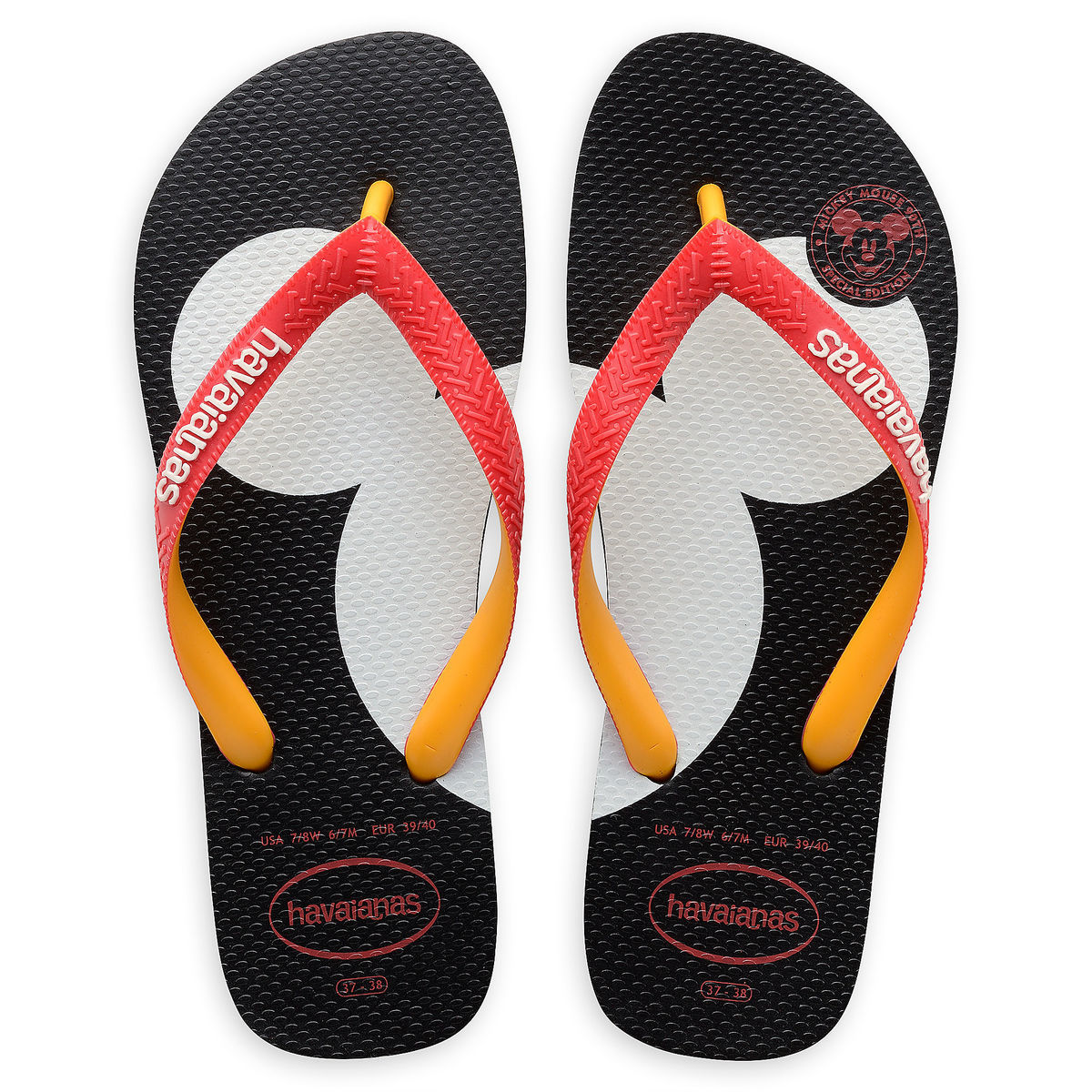 004d998ab91f Product Image of Mickey Mouse Silhouette Flip Flops for Adults by Havaianas    1