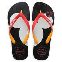 Image of Mickey Mouse Silhouette Flip Flops for Adults by Havaianas # 1