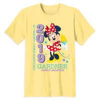 Image of Minnie Mouse Family Vacation T-Shirt for Adults - Disneyland 2019 - Customized # 1