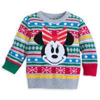 Image of Minnie Mouse Family Holiday Sweater for Baby # 1