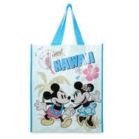 Image of Mickey and Minnie Mouse Reusable Tote - Hawaii # 1