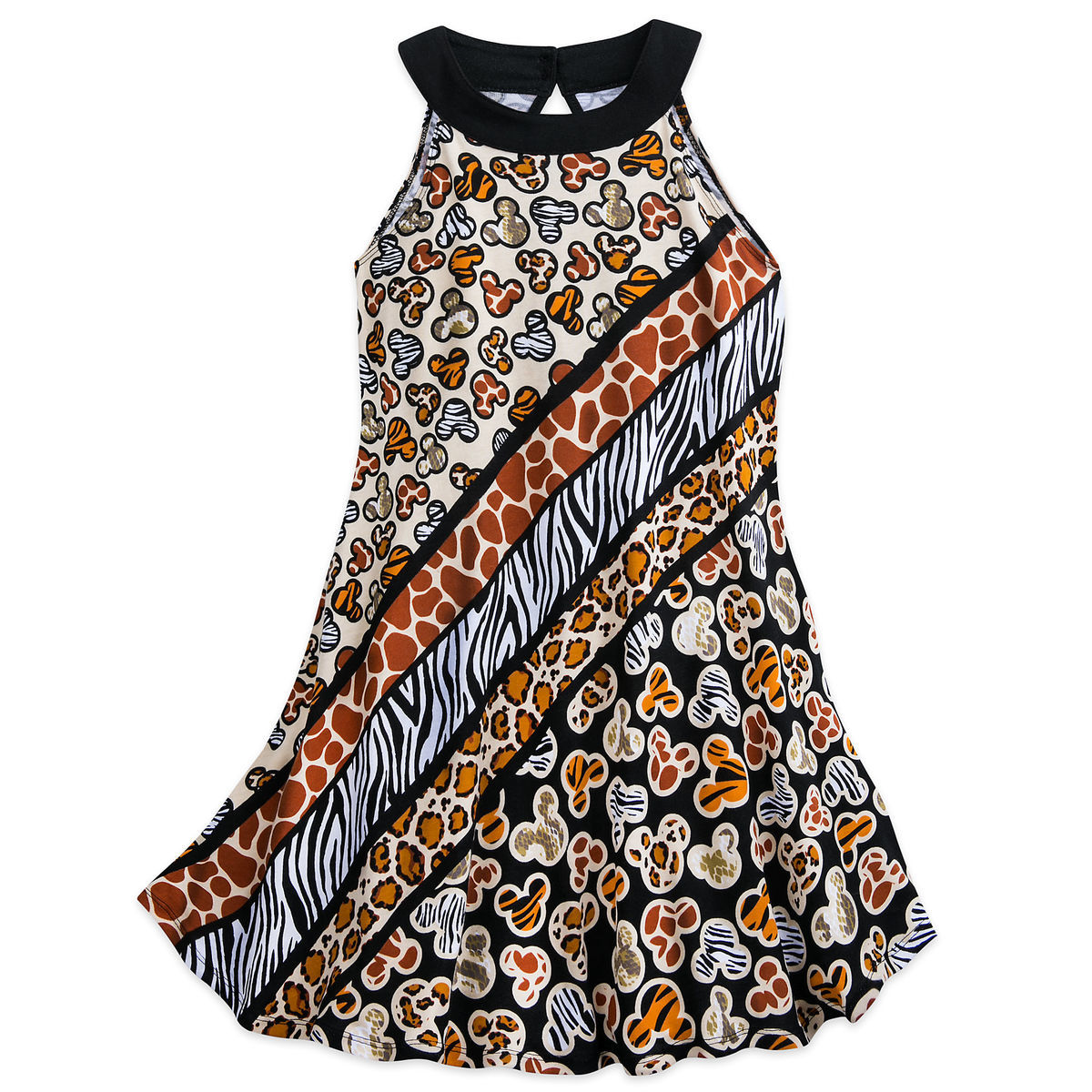 da64a7fd77 Product Image of Mickey Mouse Animal Print Dress for Girls - Disney s Animal  Kingdom   1