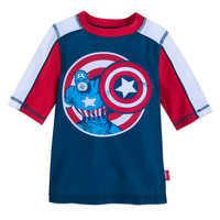 Image of Captain America Rash Guard for Kids # 1