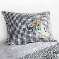 Image of Mickey Mouse Comic Collage Quilted Sham by Ethan Allen # 1