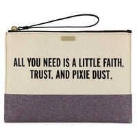 Image of Peter Pan Canvas Glitter Clutch by kate spade new york # 1