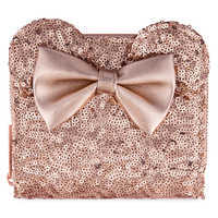 Image of Minnie Mouse Sequined Wallet by Loungefly - Rose Gold # 1