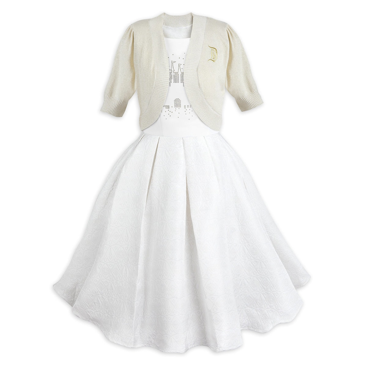 69e75205543 Product Image of Fantasyland Castle Dress and Cardigan Set for Women   1