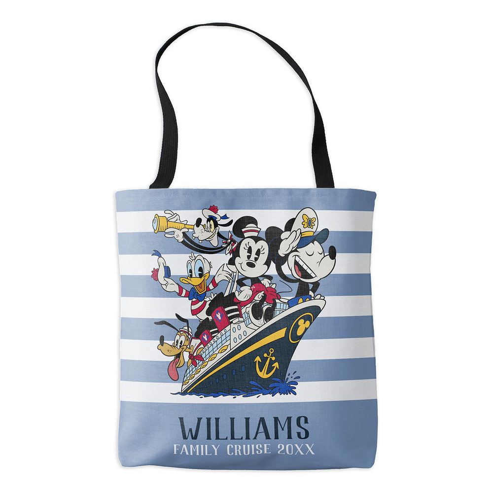 Mickey and Friends Ship Tote Bag - Customizable - Disney Cruise Line