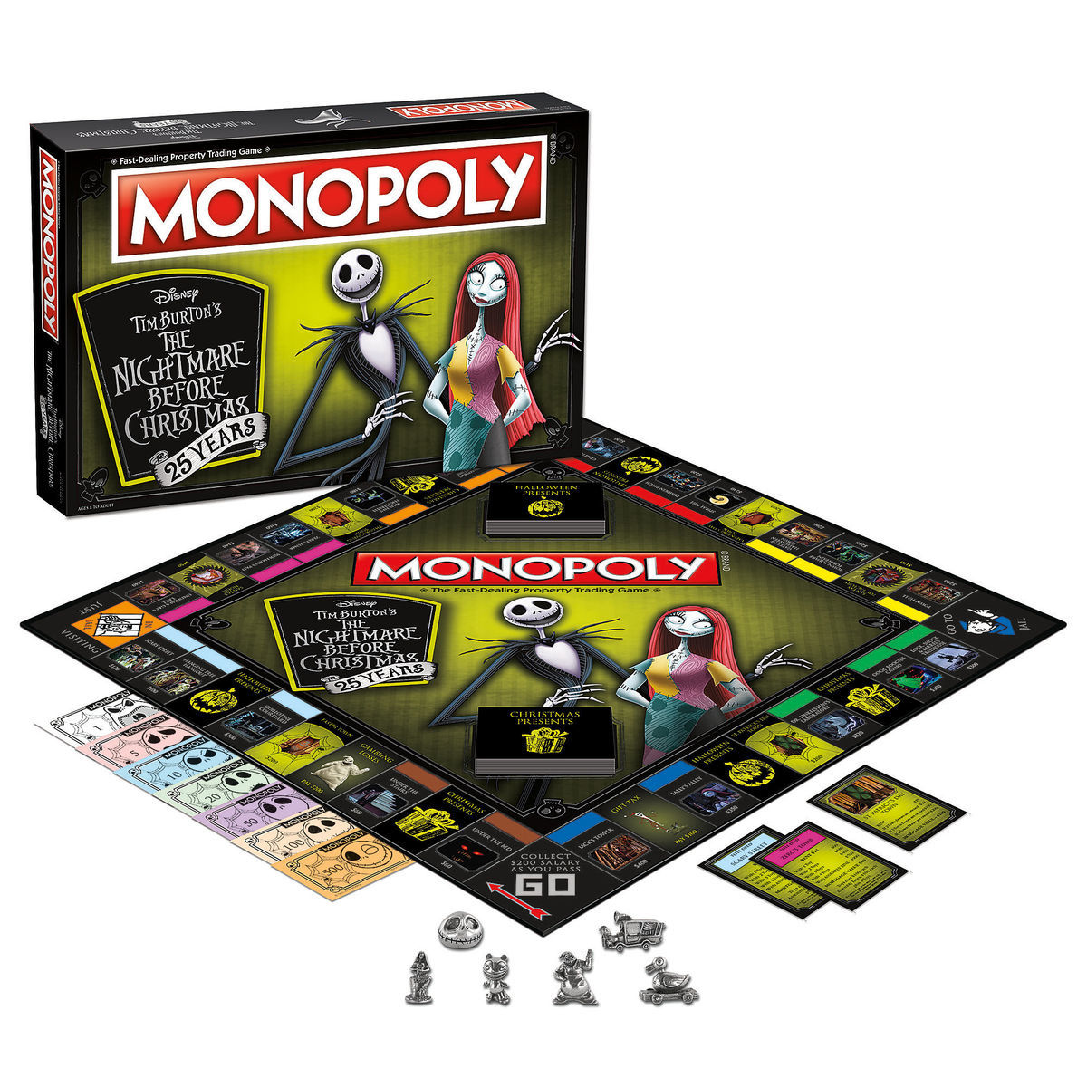 The Nightmare Before Christmas 25th Anniversary Monopoly Game ...