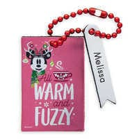 Image of Santa Minnie Mouse Leather Luggage Tag - Personalizable # 1