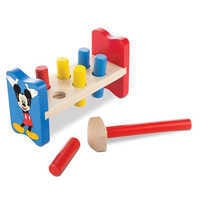 Image of Mickey Mouse Wooden Pound-a-Peg Set by Melissa & Doug # 1