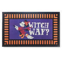 Image of Minnie Mouse as Witch Halloween Door Mat # 1