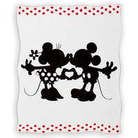 Image of Mickey and Minnie Mouse Perfect Pair Knit Throw by Ethan Allen # 1