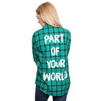 Ariel Flannel Shirt for Adults by Cakeworthy