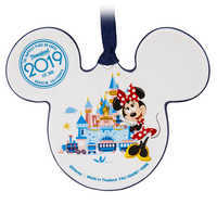 Image of Mickey and Minnie Mouse Icon Ceramic Ornament - Disneyland 2019 # 2