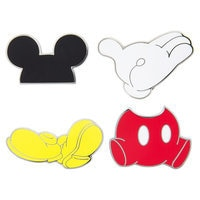 Image of Mickey Mouse ''Best of Mickey'' Pin Trading Flair Set # 1