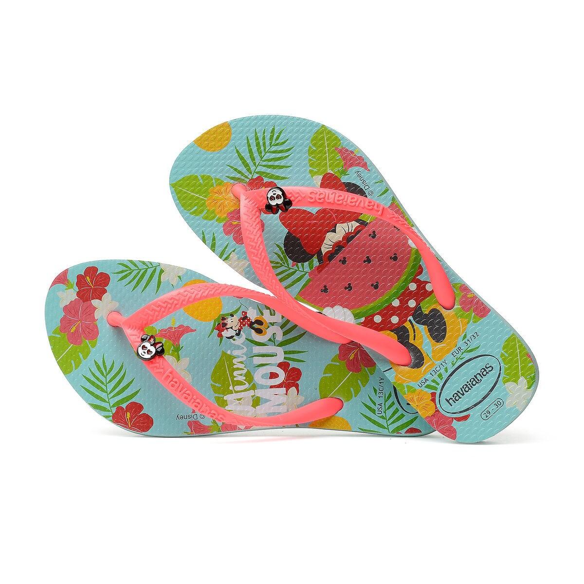 75b78fdbe23afa Minnie Mouse Tropical Flip Flops for Kids by Havaianas