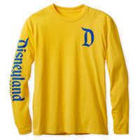 Image of Disneyland Logo Long Sleeve Tee for Adults - Yellow # 1