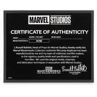Image of Iron Man Mark I Helmet - Marvel Masterworks Collection Authentic Film Prop Duplicate - Limited Edition # 10