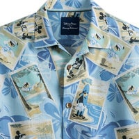 Image of Mickey Mouse and Friends Silk Shirt for Men by Tommy Bahama - Blue # 2