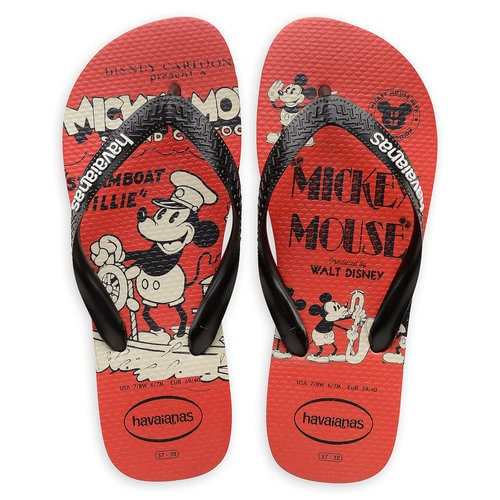 Mickey Mouse Steamboat Willie Flip Flops for Adults by Havaianas - 1920s