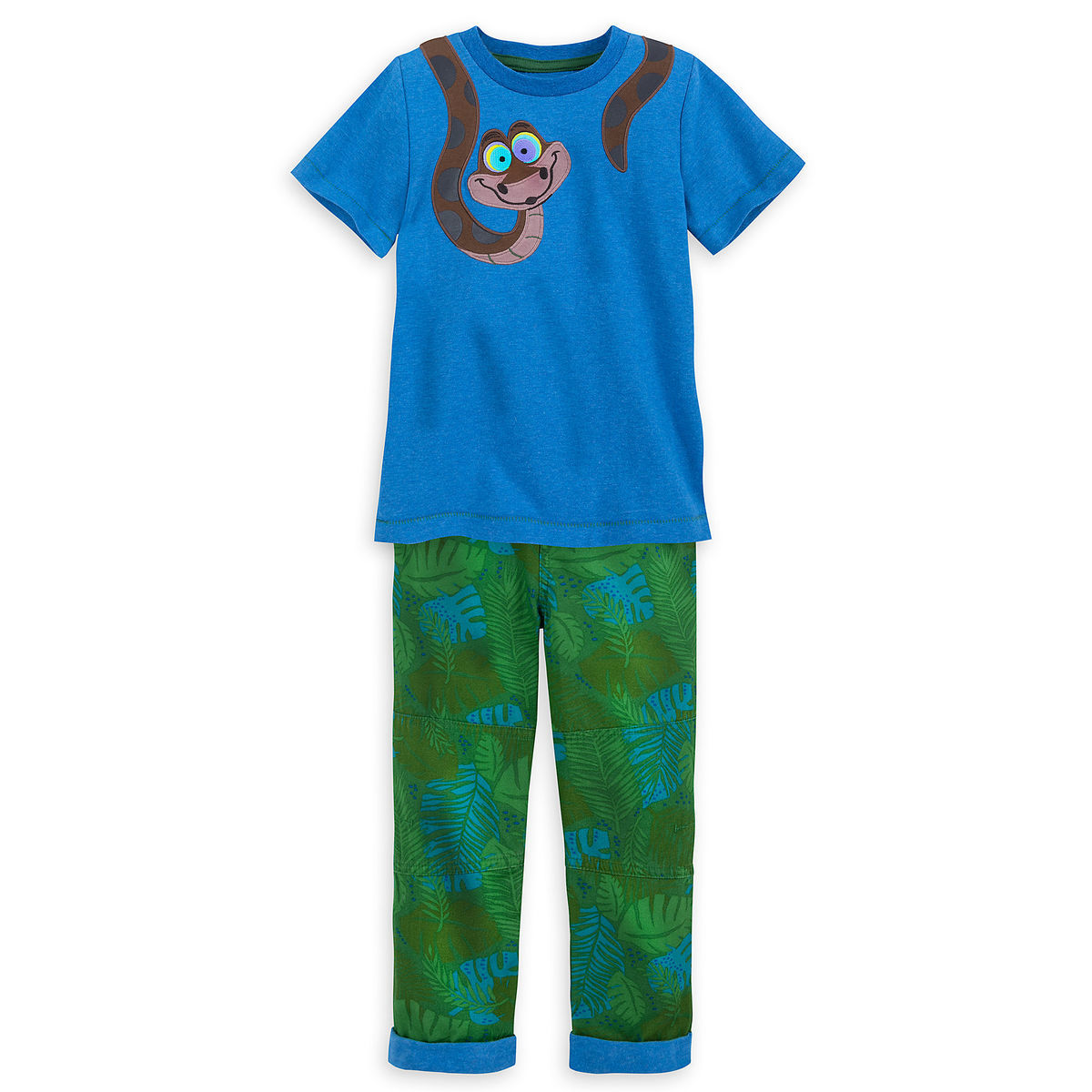 Product Image of Kaa Top and Pant Set for Kids - The Jungle Book   1 040daa7ac