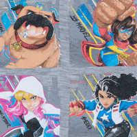 Image of Marvel Rising ''Teen Heroes'' Raglan Top for Girls # 5
