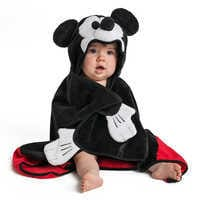 Image of Mickey Mouse Hooded Towel for Baby - Personalized # 1