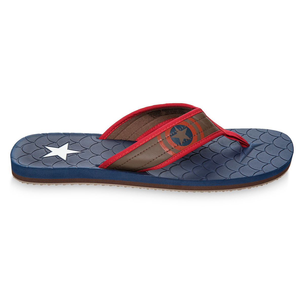 42f8f7c95a74 Captain America Flip Flops for Adults