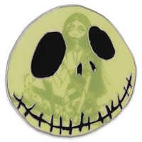 Image of Jack Skellington and Sally Glow-in-the-Dark Pin # 1