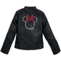 Minnie Mouse Faux Leather Jacket for Girls