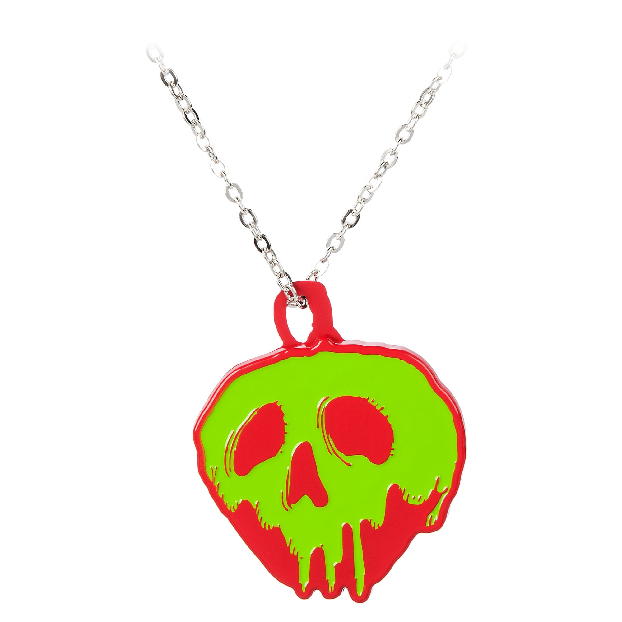 Poisoned Apple Necklace with Compact Mirror - Snow White and the Seven Dwarfs