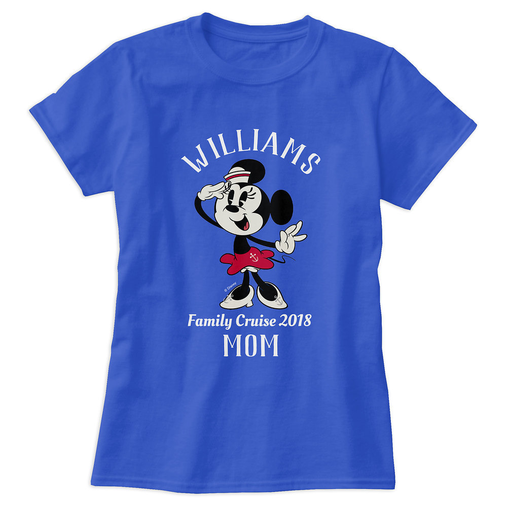 Minnie Mouse T-Shirt for Women - Customizable - Disney Cruise Line