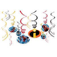 Image of Incredibles 2 Swirl Decoration Set # 1