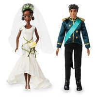 Image of Tiana and Naveen Classic Wedding Doll Set - The Princess and the Frog # 1