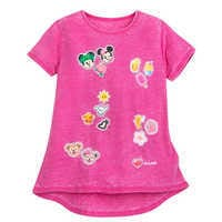 Image of Mickey and Minnie Mouse Emoji T-Shirt for Girls - Aulani, A Disney Resort & Spa # 1