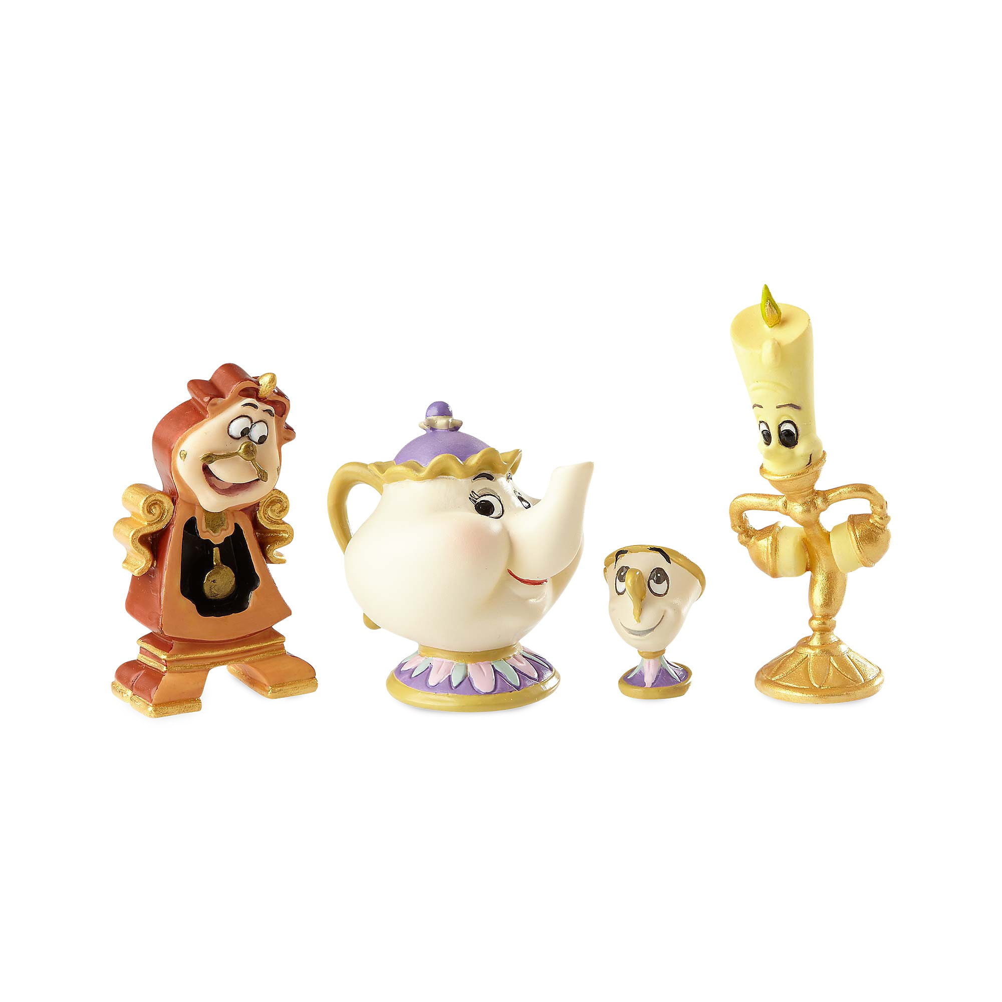 Enchanted Objects Couture de Force Figure Set by Enesco - Beauty and the Beast
