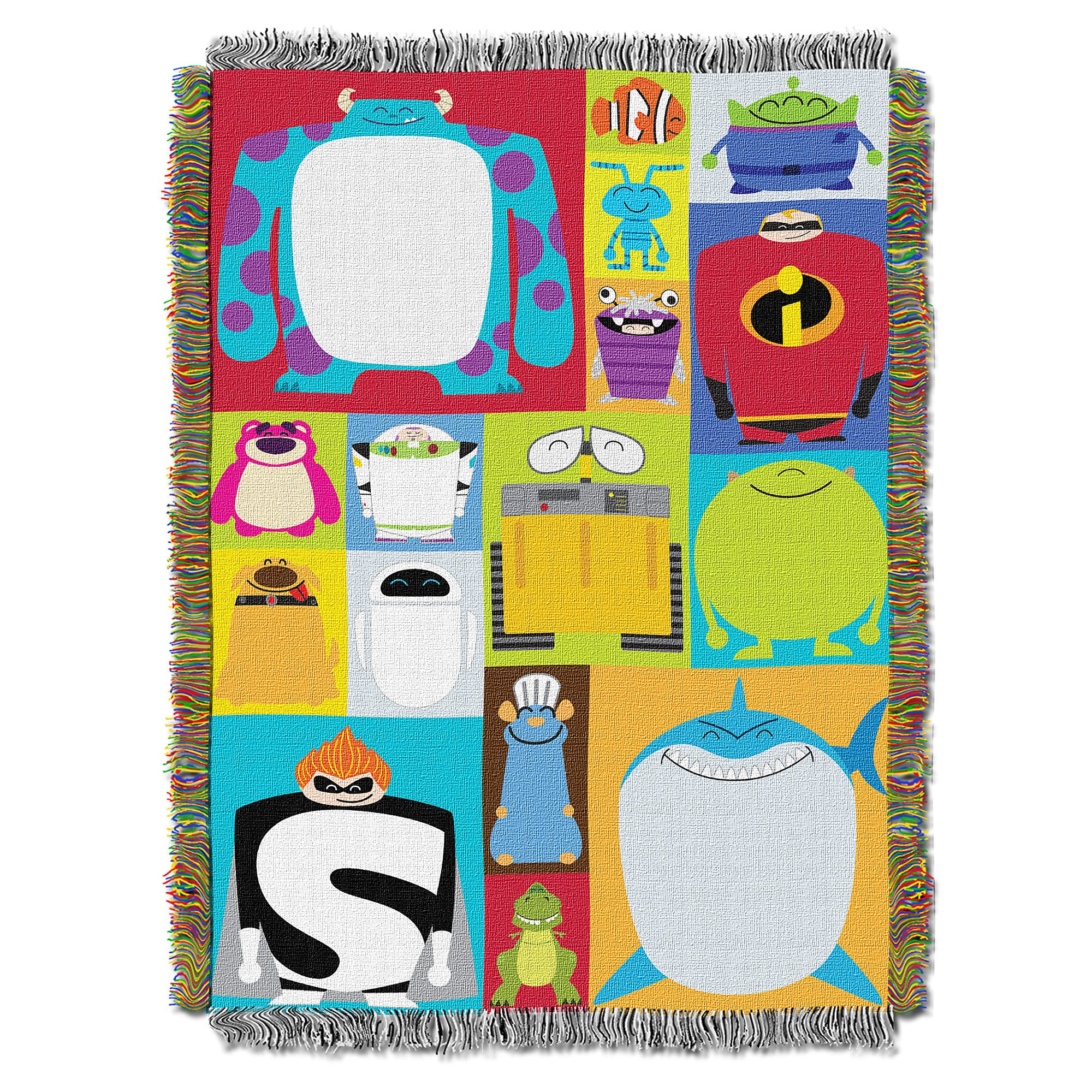 PIXAR Character Blocks Woven Tapestry Throw