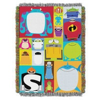 Image of PIXAR Character Blocks Woven Tapestry Throw # 1