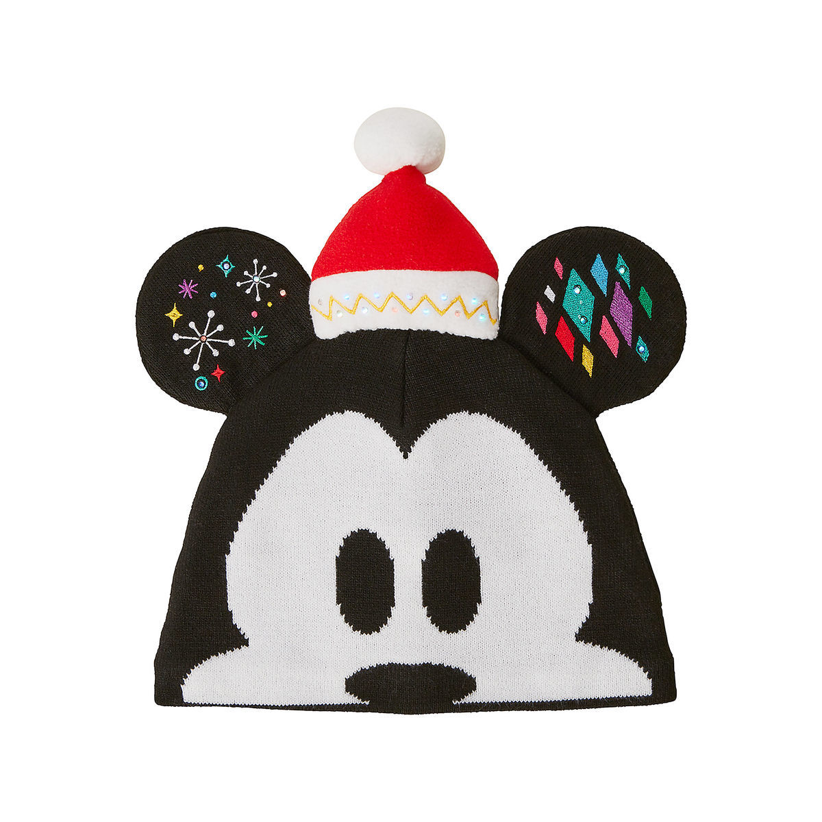 1d61d04785a Product Image of Mickey Mouse Light-Up Knit Holiday Ear Hat for Kids   1