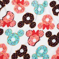 Image of Mickey and Minnie Mouse Donut Fleece Throw # 3
