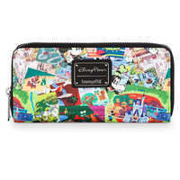 Image of Disney Parks Collage Wallet by Loungefly # 1