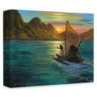 Image of Moana ''Sailing into the Sun'' Giclée on Canvas by Walfrido Garcia # 1