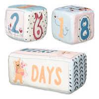 Image of Winnie the Pooh Plush Milestone Blocks for Baby # 3