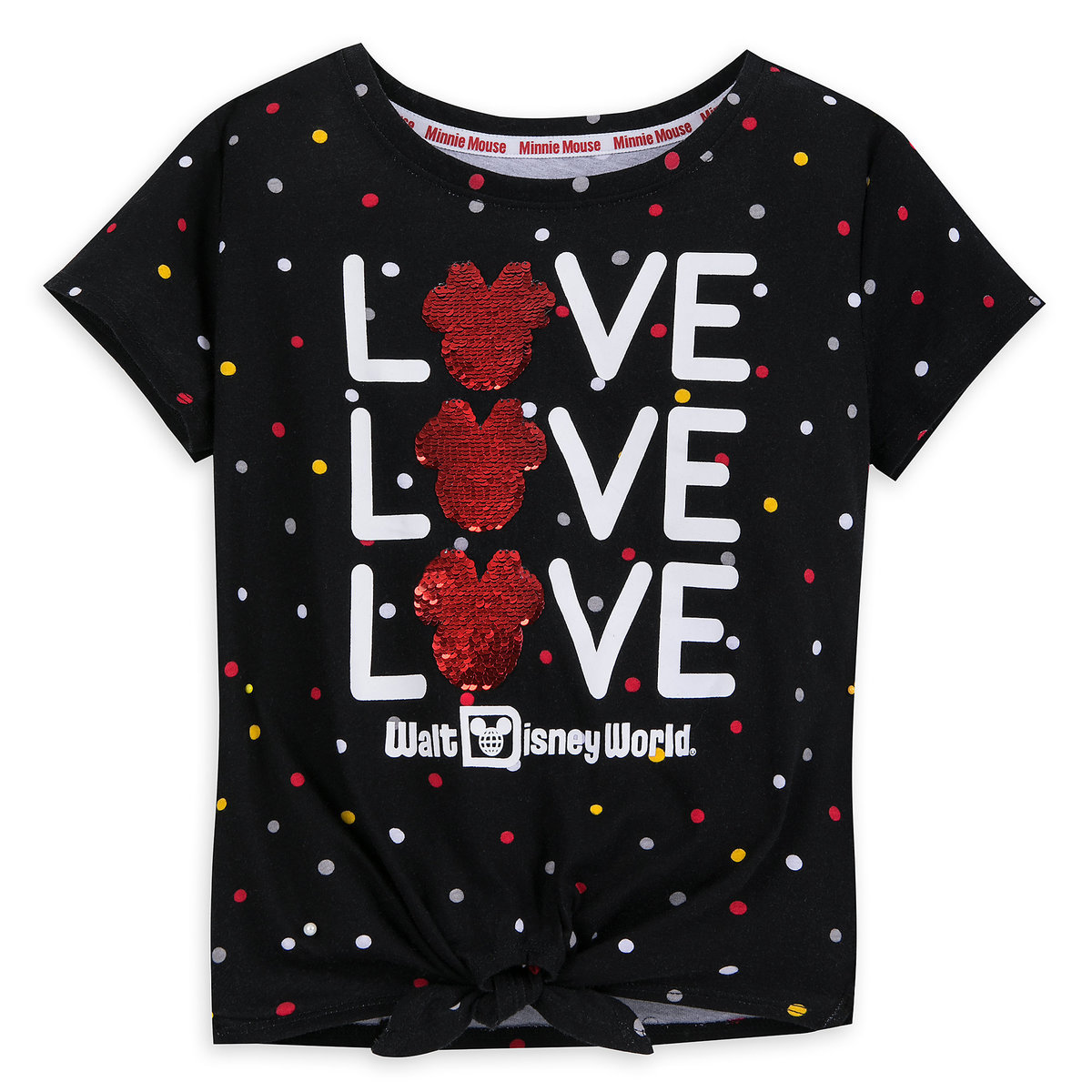 6975046f9622 Product Image of Minnie Mouse Reversible Sequin T-Shirt for Girls - Walt  Disney World